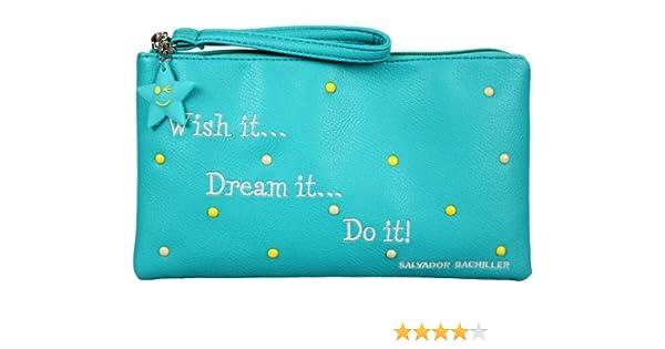 BOLSITA G WISH IT DREAM IT DO IT NEWGRAFITI 71427 AGUAMARINA: Amazon.es: Zapatos y complementos