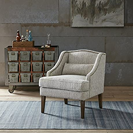 Baylor Swoop Arm Accent Chair Grey Multi See Below