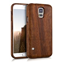 kwmobile Natural wood case for the Samsung Galaxy S5 / S5 Neo / S5 LTE+ / S5 Duos in rosewood dark brown