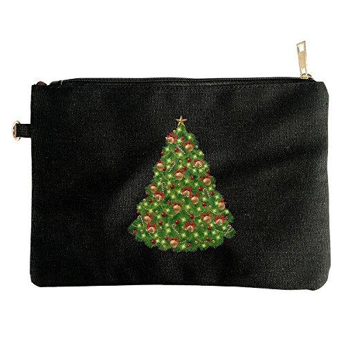 Devil Clipart (Christmas Tree Clipart Logo DIY Duty Multi-purpose Canvas Zipper Tool Bag Printed Toiletry Storage Bag Ipad Pack)