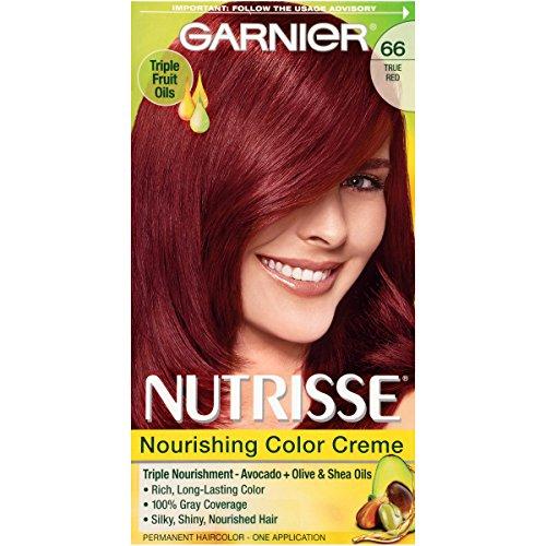 Garnier Nutrisse Nourishing Hair Color Creme, 66 True Red...