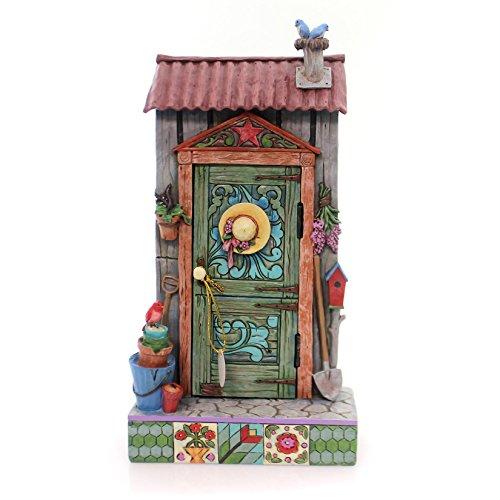 Jim Shore HWC by Enesco Potters Shed Door with Garden Scene 4057691