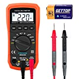 Digital Multimeter, Crenova MS8233D Auto-Ranging Digital Multimeters Electronic Measuring Instrument AC Voltage Detector Portable Amp / Ohm / Volt Test Meter Multi Tester Diode and Continuity Test Scanners Home Use Electronic DIY Hand Tools with Backlight LCD Display