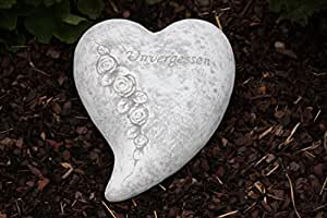 Grab joyas, Grab con piedra de corazón, piedra fundido macizo, resistente a heladas hasta -30°C