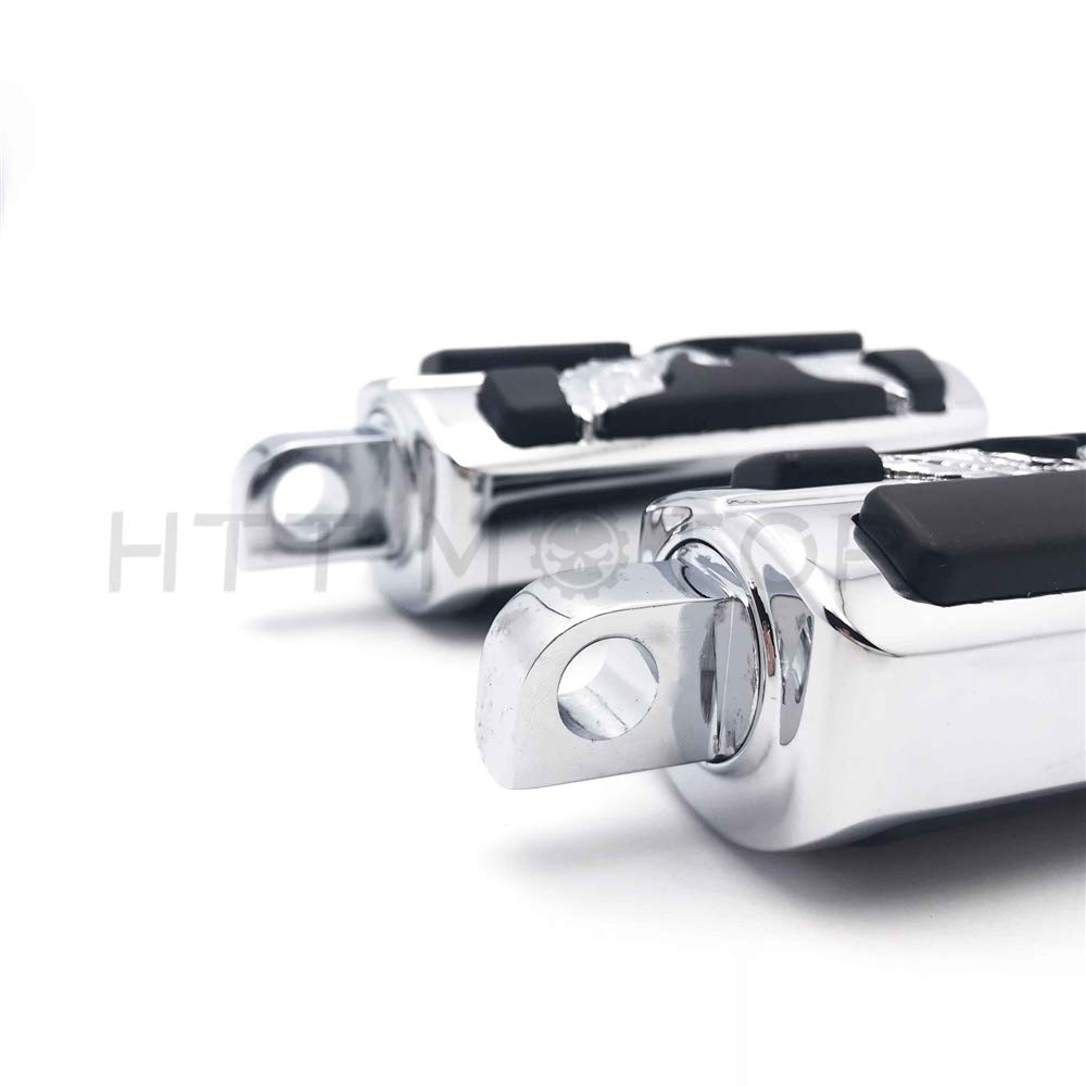 HTTMT MT216-053-Chrome Skull Shifter Shift Foot Peg Replacement Compatible with Harley Chopper Touring Cruiser Custom