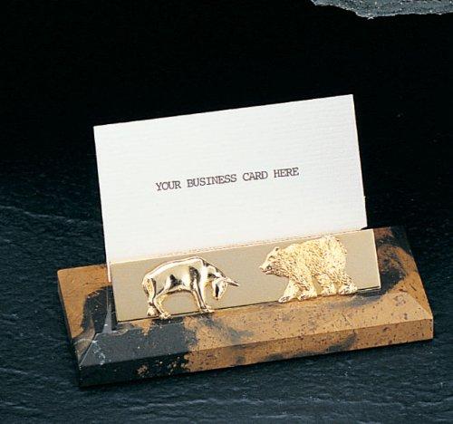 Stock Market Business Card Holder - Bull and Bear
