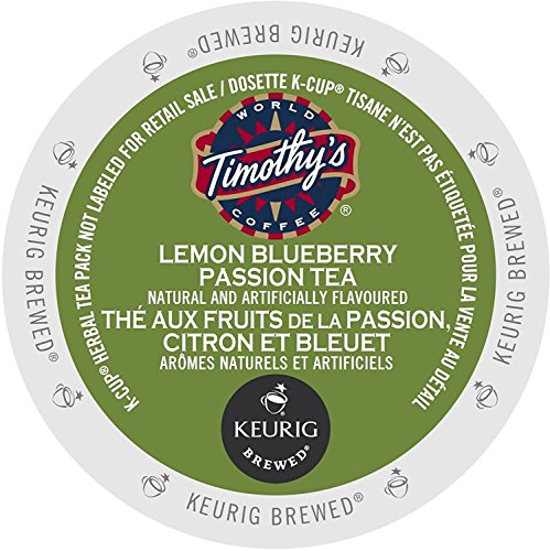Timothy's World Coffee Lemon Blueberry Passion Tea K-Cups (24 count) - Lemon Passion Fruit Fruit