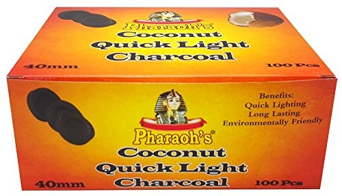 Pharaoh's Coconut Quick Lighting Hookah Charcoal (40mm Tablet) by Pharaoh's