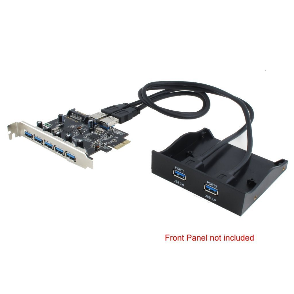 Sedna - PCI Express USB 3.0 7 Port Adapter (Support Win 8 Uasp, Super Fast Speed), SATA Power connector by Sedna (Image #4)