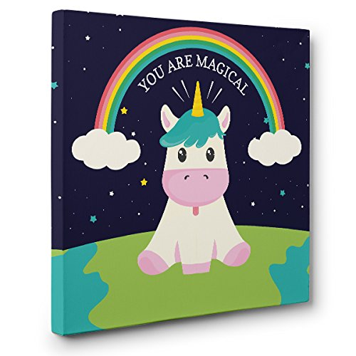 You Are Magical Unicorn CANVAS Wall Art Home Décor by Paper Blast