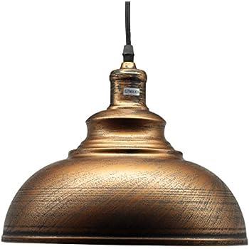 ynut loft style pendant aged bronze metal dome hanging light 12 inch