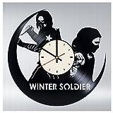 Bucky Barnes Vinyl Clock Winter Soldier Wall Art Gifts for Captain America Fans The Avengers Living Room Wall Decor -  STP Cat