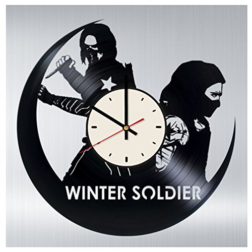 Bucky Barnes Vinyl Wall Clock Comics Living Room Home Decor -  Wall Gifts