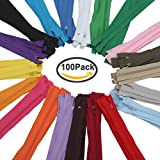#2: Jaciya 100Pcs 9 Inch Nylon Coil Zippers Tailor Sewing Tools Garment Accessories Zipper 20 Color Bonus