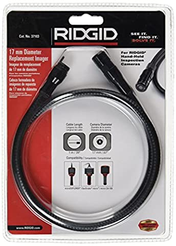 RIDGID 37103 17-mm Replacement Imager with 3-foot Cable, Replacement Camera Head (Ridgid Snake Camera)