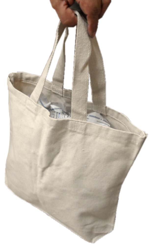 Kanvas再利用可能なコットンキャンバスバッグのハンドルストラップfor Grocery /ショッピング: (パックof 2 Bags ) B01IM99OXE