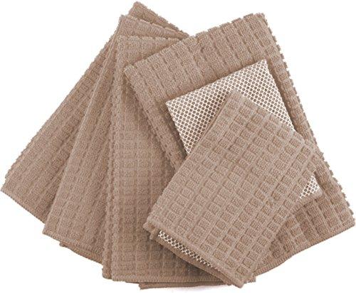 Beige Taupe Microfiber 6 Piece Kitchen Towel ()
