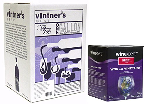 Wine Making Equipment Kit Plus Merlot Ingredient Kit by Vintner's Best
