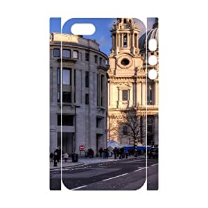 3D City 166 IPhone 5,5S Case, Girly Protective Case Iphone 5s Cases for Teen Girls Okaycosama {White}