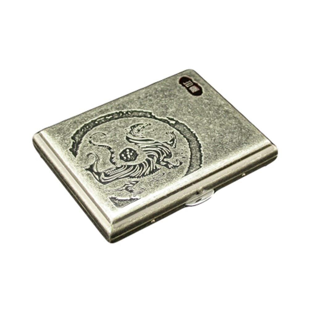 KALMAR Copper Cigarette Case 16 Sticks, Portable Retro Cigarette Case, Anti-Pressure Moisture-Proof, Men's Birthday Gift, Ideal Gift for Smokers, Cigarette Box Cigar Protective Cover