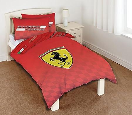 Copripiumino Ferrari.Ferrari Set Copripiumino Per Letto Singolo In 50 Cotone E 50