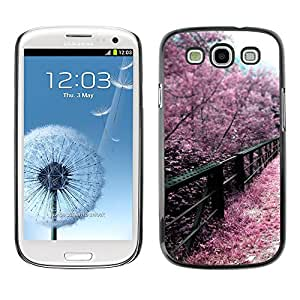 Hot Style Cell Phone PC Hard Case Cover // M00103057 blossoms photos cherry bridges japan // Samsung Galaxy S3 i9300