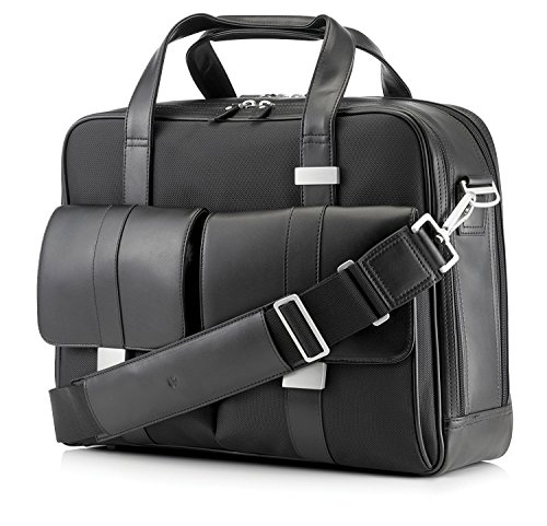 Leather Load Top Laptop (HP AX679AA Elite Leather Top Load Notebook Case with Adjustable Shoulder Strap for 17