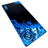 """Extended Large Gaming Mouse Pad by ENHANCE - XL Mouse Mat (31.5"""" x 13.75"""") Anti-Fray Stitching for Professional eSports with Low-Friction Tracking Surface and Non-Slip Backing - Blue"""