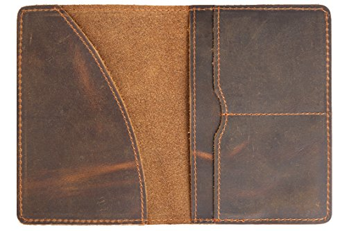 Genuine Leather Passport Cover Case Passport Holder for Men Wallet Card Sleeves