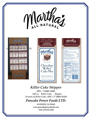 Chocolate Killer Cake SHIPPER by Martha's All Natural