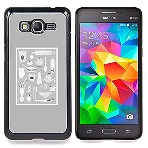 BullDog Case - FOR Samsung Galaxy On7 G6000 - Hipster Purple Black Pattern - Dise???¡¯???¡Ào para el caso de la cubierta de pl???¡¯????stico Chicas