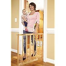 Stork Craft Easy Walk-Thru Wooden Safety Gate, Natural
