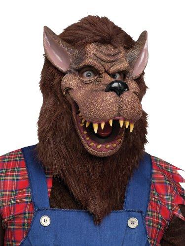 Fun World Unisex-Adult's Big Bad Wolf Mask Accessory, Multi Standard -