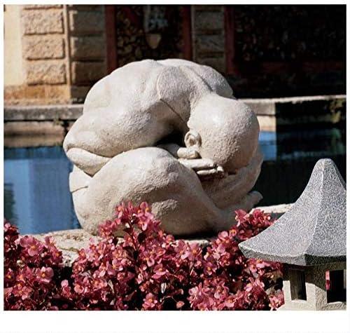 Design Toscano NG30369 Meditating Shy Yogi of Bali Statue,antique stone
