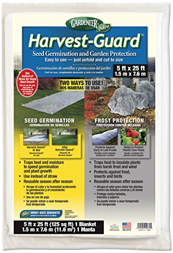 Dalen HG25 Gardeneer By Harvest-Guard Seed Germination & Frost Protection Cover 5' x 25' Grass Seed Planter