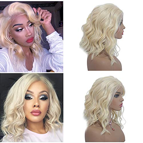 - 613 Blonde Human Hair 13x4 Body Wave Lace Front Wig 12