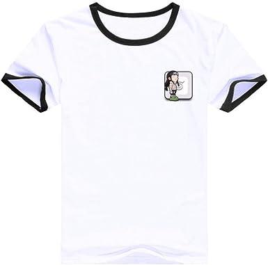 TSHIMEN Camisetas Hombre Rock Grupos Naruto 2019 Hot Anime japonés Camiseta Camiseta Linda de la impresión de la Historieta Tops Manga Corta Blanco: Amazon.es: Ropa y accesorios
