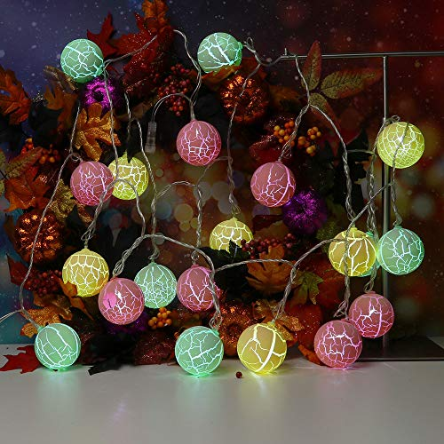 String Lights, 5M Waterproof 20LED Globe String Lights for Indoor/Outdoor Commercial Décor Vintage Backyard Patio Lights, Globe Hanging Light String for Wedding Party Cafe Deck Decor (Multicolor)]()