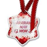 Christmas Ornament Dog & Cat Mom Arabian Mau, red - Neonblond