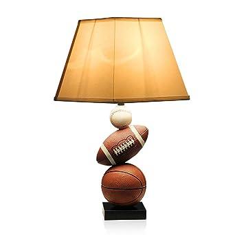 Lámpara de mesa creativa de baloncesto americano para habitación ...