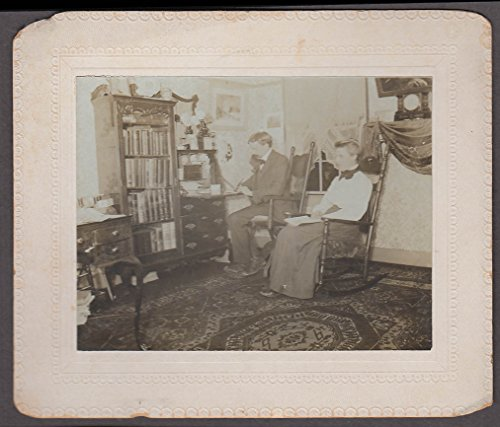 (Mr & Mrs Todd at home photo 1903 writing desk rocking chair)