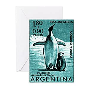 Amazon cafepress 1961 emperor argentina penguins postage greeting cards m4hsunfo