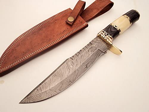 DKC Knives 8 6 18 DKC-819 Capella Bowie Damascus Steel Knife TM 15 oz 8 Blade 12.75 Overall