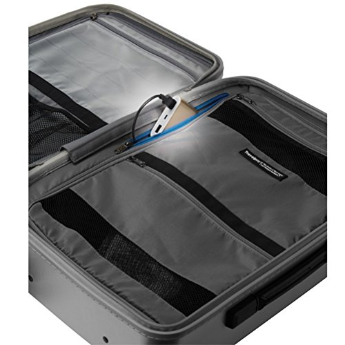 Travelpro Luggage Crew 11 22' Carry-on Slim Hardside Rollaboard w/USB Port, Silver