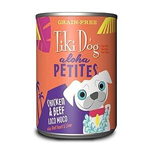 Tiki Dog Aloha Petites Chicken & Beef Loco Moco Wet Dog Food, 9 oz., Case of 12 good