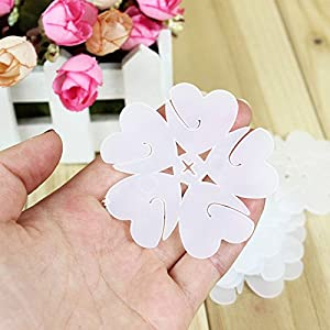 CheckMineOut 20Pcs White 5 In 1 Flower Shape Balloon Clips Closures Balloon Column Kit Wedding Centerpieces Birthday Pary Holiday Decoration Accessories