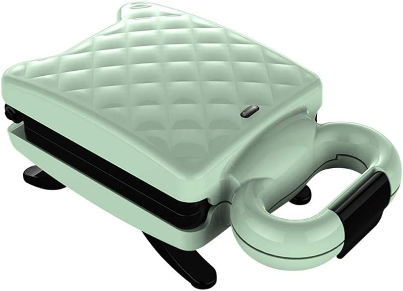 NAFE Sandwich Maker, Multi-Function Breakfast Maker, Toaster Toaster Waffle Maker, Non-Stick Plate, Cool Handle, 220V 600W,Sandwich Toasters -Green