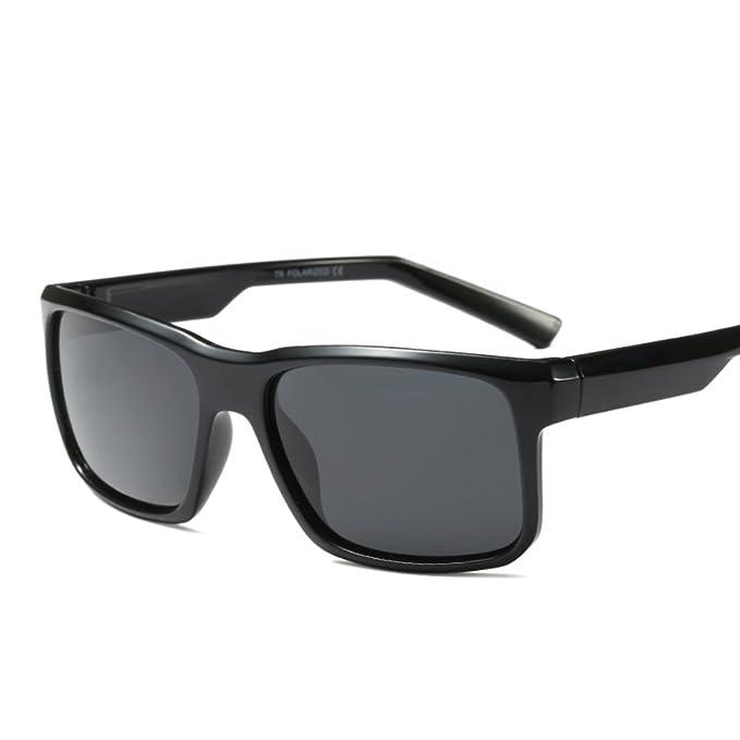 894bd15c7763b Ultralight Polarized Sunglasses 57mm Unisex Rectangular Square TR90 Frame ( Black