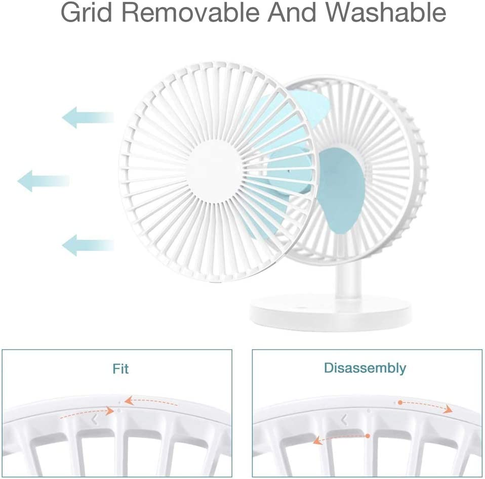 Dormitory AXZHYX Mini Fan Jiale Mini USB Charging Desk Fan Color : White Study180 x 140 x 220mm Personalized and Convenient Mini Fan Portable Small Silent Desktop Fan for Home Office Bedroom
