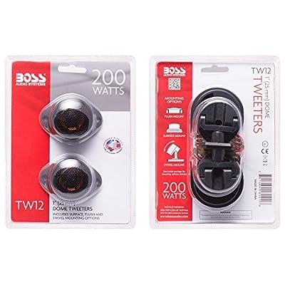 BOSS Audio Systems TW12 200 Watt Per Pair, 1 Inch Car Tweeters Sold in Pairs: Car Electronics